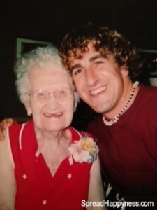 Rob with Auntie Mary on her 100th Birthday!  (photo credit: Grace Church)